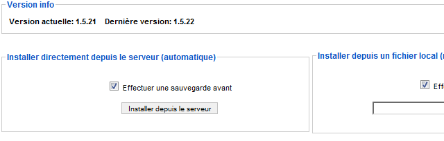 Installation du patch Joomla avec J!Update